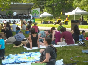 Enjoying the sounds of the Boston Pops Brass Ensemble in beautiful Franklin Park, 6/24/2012