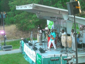 The E Water Band performing, Elma Lewis Playhouse in the Park 7/10/2012